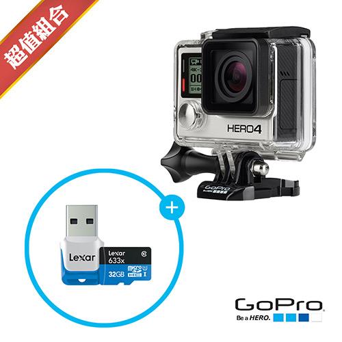 GoPro HERO4 黑色高階版 32G記憶卡組(忠欣公司貨)