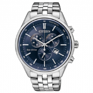 CITIZEN 時尚光動能計時腕錶 AT2140-55L