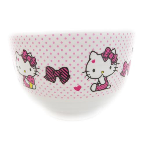 【真愛日本】15091900002日式湯碗-粉  三麗鷗 Hello Kitty 凱蒂貓  湯碗  飯碗  正品