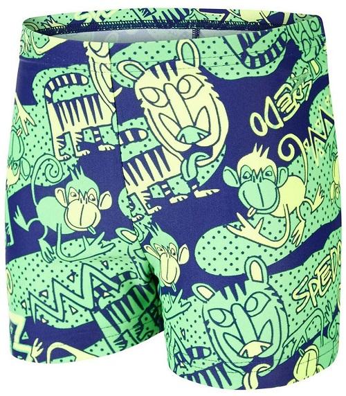 [陽光樂活]SPEEDO幼童男休閒四角泳褲 Jungle Roar Essential-SD805394A752 綠-藍