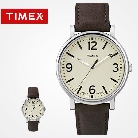 TIMEX天美時腕錶 INDIGLO冷光 經典款數字簡約刻度皮革手錶 柒彩年代【NE1634】原廠公司貨