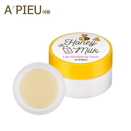 韓國 A'PIEU 蜂蜜牛奶晚安美唇膜 6.7g 護唇膏 唇部修護 A pieu APIEU 奧普【B062338】