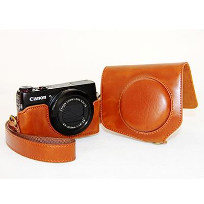 【和信嘉】Canon G7X 可拆式相機皮套 (棕色) Kamera 咖啡色 復古 相機包 皮質包 保護套