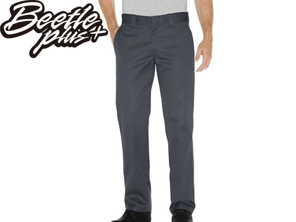 BEETLE PLUS DICKIES WP873CH PANTS 美式 873 老墨 鐵灰 深灰 低腰 合身 工作褲
