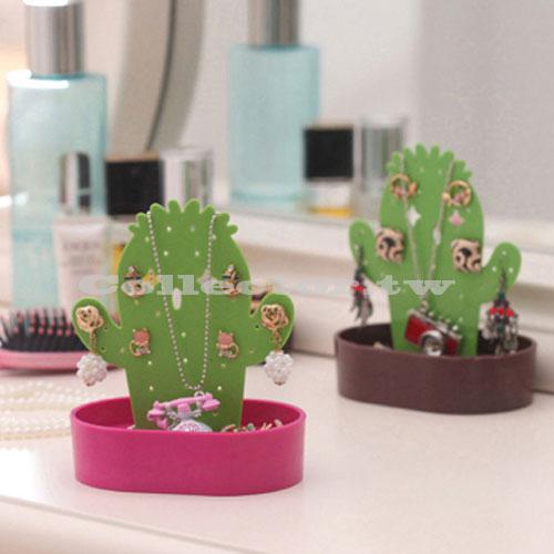 【G15031201】韓版創意時尚仙人掌首飾架 飾品架 耳環項鍊收納架 女孩必備