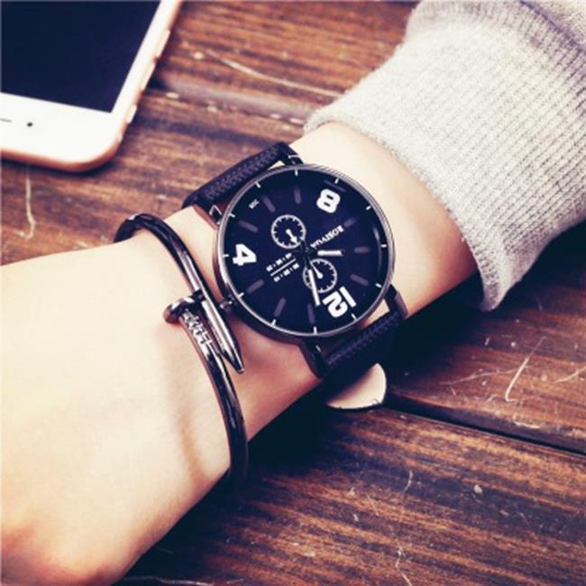 50%OFF【H019048WAH】韓國ulzzang原宿風手錶個性創意皮帶韓版復古歐美青年男女學生BF