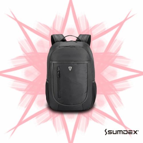 【加賀皮件】 SUMDEX 男士後背包 紳士 防盜 通勤 經典款 商務 電腦包 背包【PON-202】