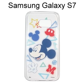 迪士尼透明軟殼 [形狀] 米奇 Samsung G930FD Galaxy S7【Disney正版授權】