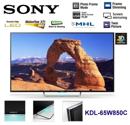 【佳麗寶】-限量一台(SONY)BRAVIA 液晶電視-W850C 系列-65型【KDL-65W850C】