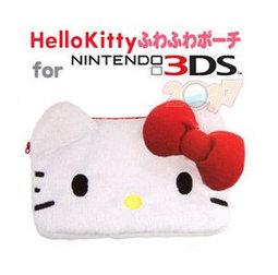 3DS / DSi / NDSL 通用 KITTY 毛茸茸收納保護包(任天堂X三麗鷗 正版雙授權 限定日本國內販售)