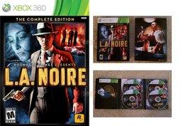 XBOX 360 LA NOIRE 黑色洛城:年度紀念特別完全完整版(4片裝) -英文美版-