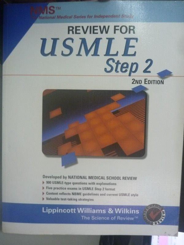 【書寶二手書T4/進修考試_ZBE】NMS Review for USMLE Step 2 2/e
