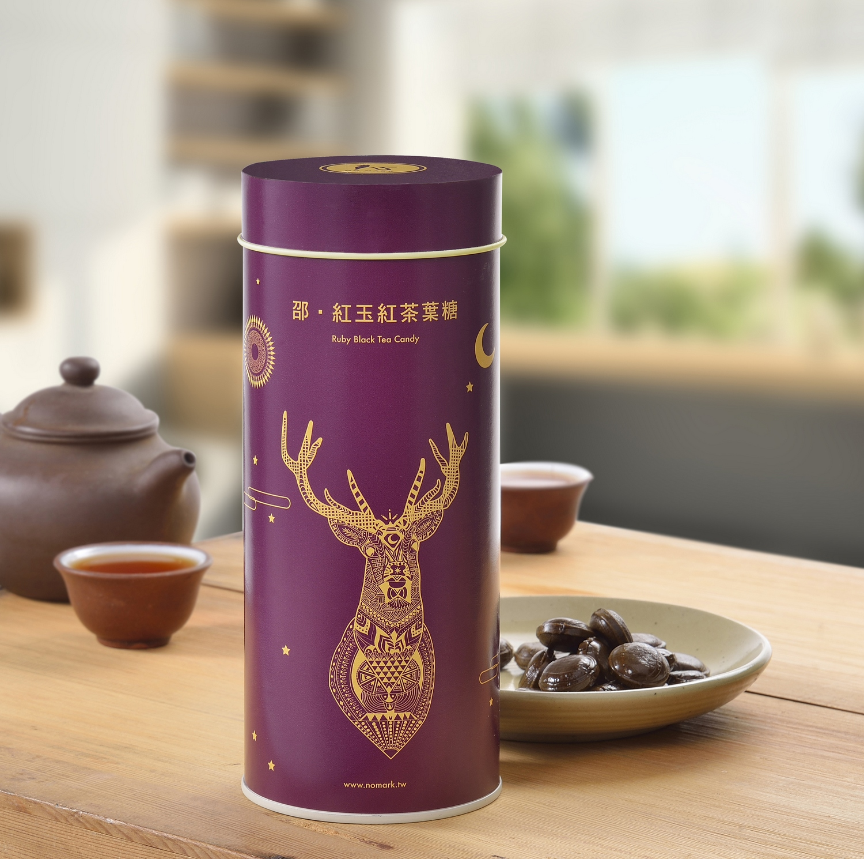 邵。紅玉紅茶葉糖(存運罐) 鐵罐 年節禮盒 存錢筒 文創商品