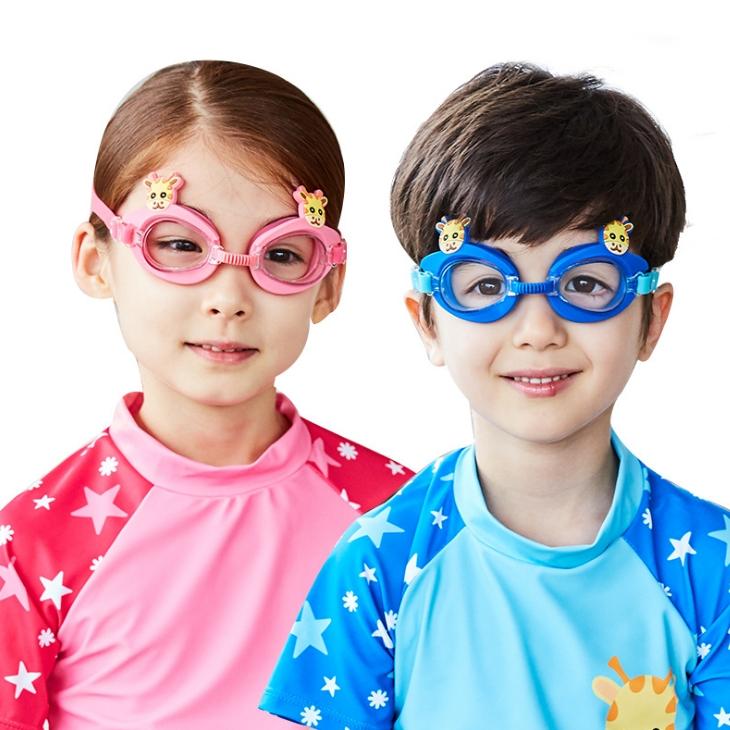 Kocotree◆可愛動物小鹿長頸鹿卡通造型兒童泳鏡防水護目鏡