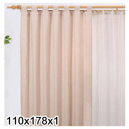 吊帶式窗簾ESTELLA BE 110X178X1
