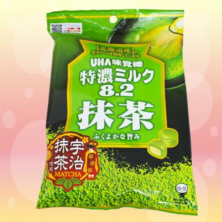 [敵富朗超市]UHA味覺糖 特濃8.2抹茶牛奶糖