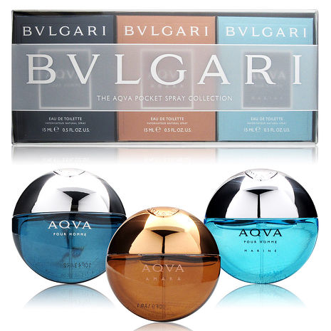 寶格麗 BVLGARI 水能量小香禮盒 15ML*3 (水能量+艷陽水能量+活力海洋) ☆真愛香水★