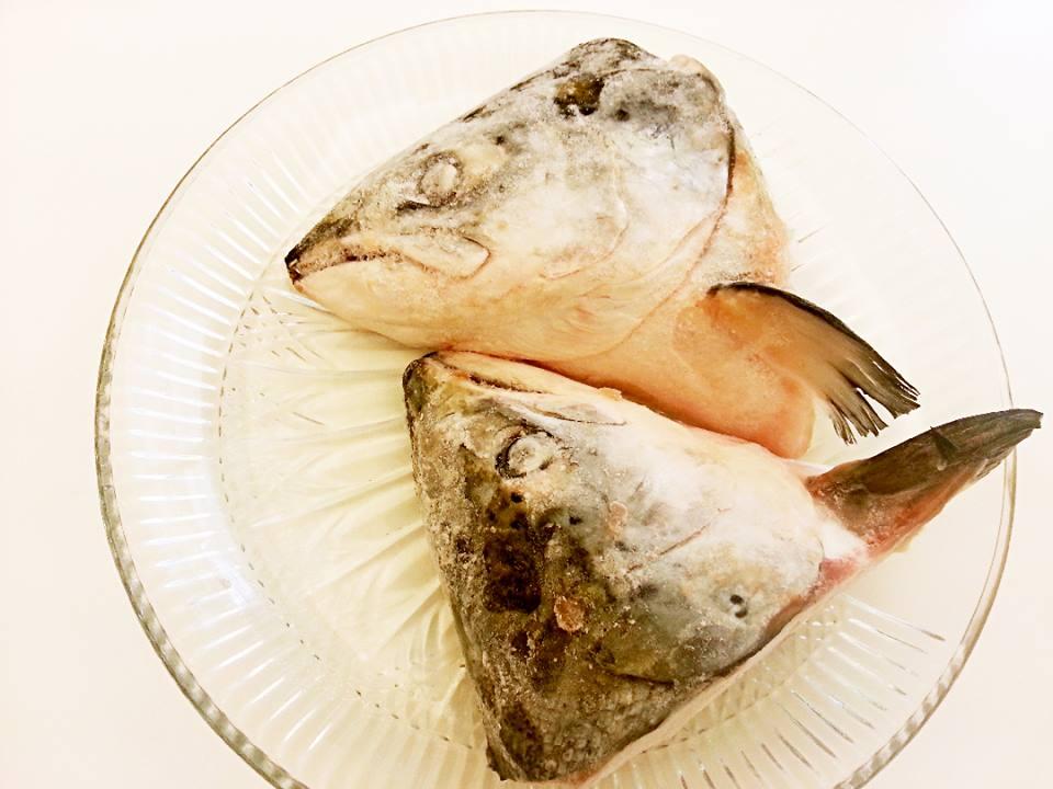 【雞籠好魚】挪威鮭魚頭(特大)*1付組,已對半切兩大塊(800g~1100g/1付總重量)★再送鮭魚尾!!★