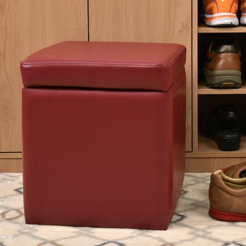 【尚優家居】吉尼爾收納椅/儲藏椅/玄關椅/掀蓋椅 (深紅色)