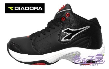 【巷子屋】義大利國寶鞋-DIADORA迪亞多納 男鞋籃球鞋 [7350] 黑白 超值價$756