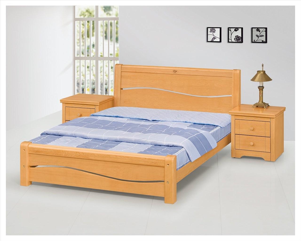 【石川家居】EF-96-1 米蘭五尺檜木色雙人床架 (不含床墊及含其他商品) 需搭配車趟