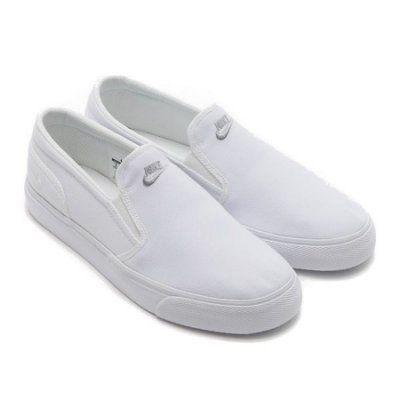 【蟹老闆】【現貨】NIKE TOKI SLIP TXT 懶人鞋 素面 無鞋帶 白色 男女情侶鞋 另有黑色