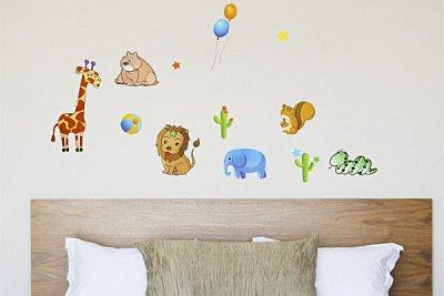 BO雜貨【YP1530】可移動壁貼 牆貼 背景貼 兒童房設計佈置布置 兒童璧貼 卡通動物