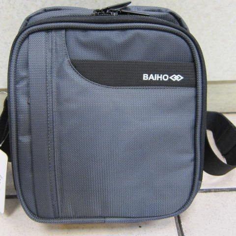 ~雪黛屋~BAIHO 隨身小型肩側包 隨身物品專用放置包 台灣製造品質保證 防水尼龍布OH258 灰