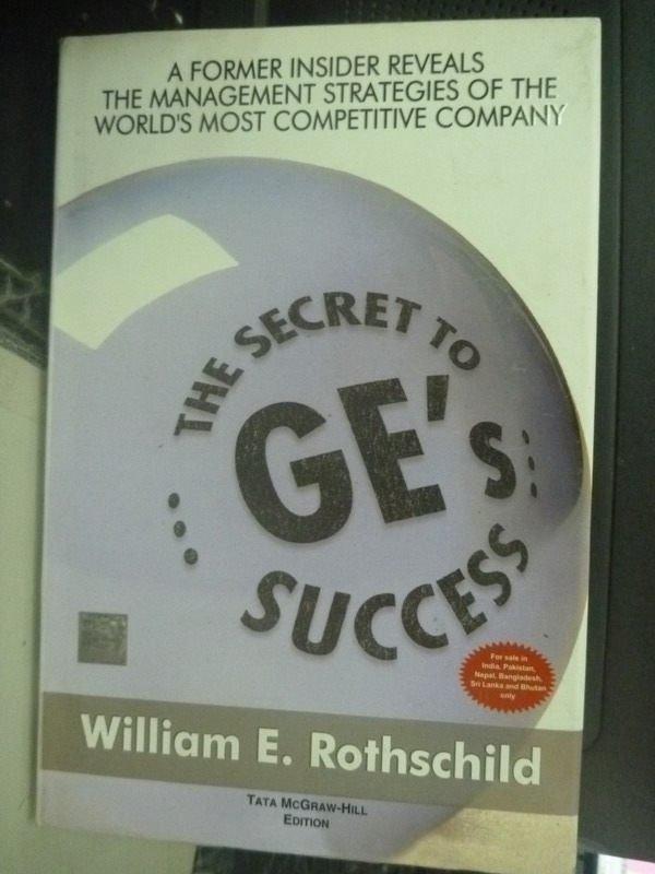 【書寶二手書T9/財經企管_ZGZ】The Secret to GEs Success