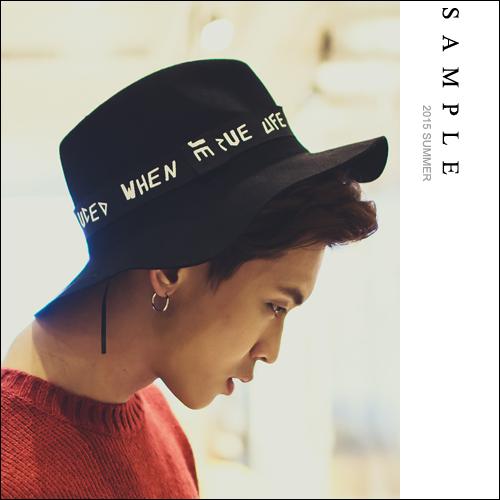 禮帽【SA14036】字母塗鴉帶 黑色紳士帽【Sample】