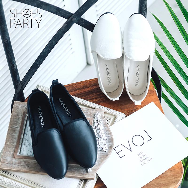 【C2-16504L】黑白系列軟羊皮歐貝拉_Shoes Party