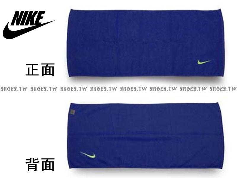 Shoestw【AC9637-484】NIKE毛巾 運動毛巾 盒裝 藍螢光綠 純棉 2016新款