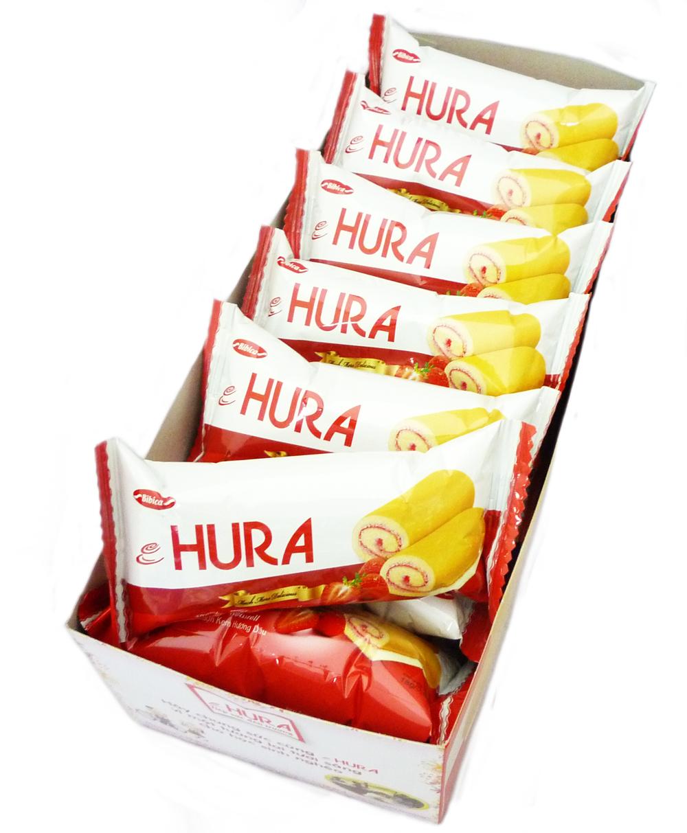 HURA 迷你瑞士捲(草莓味) 360g整盒