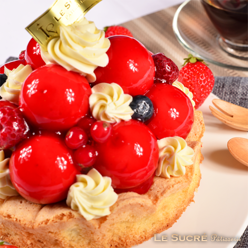 莓果寶石蛋糕-6吋  [ 草莓、覆盆子、奶油起司交織的絕妙滋味 ]