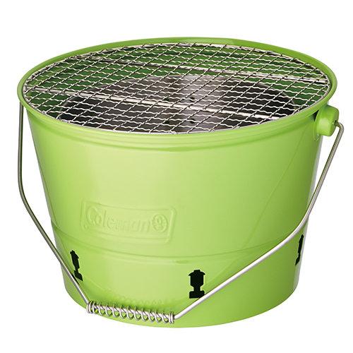【鄉野情戶外專業】 Coleman |美國|  Coleman BBQ水桶 暖爐 烤肉架-綠 _CM-3495JM000