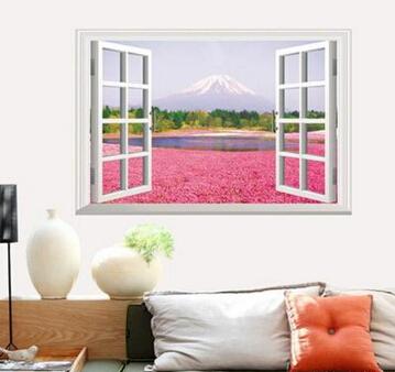 創意歐式假窗戶牆貼餐廳客廳溫馨浪漫臥室床頭背景裝飾田園風景【no-22966220741】