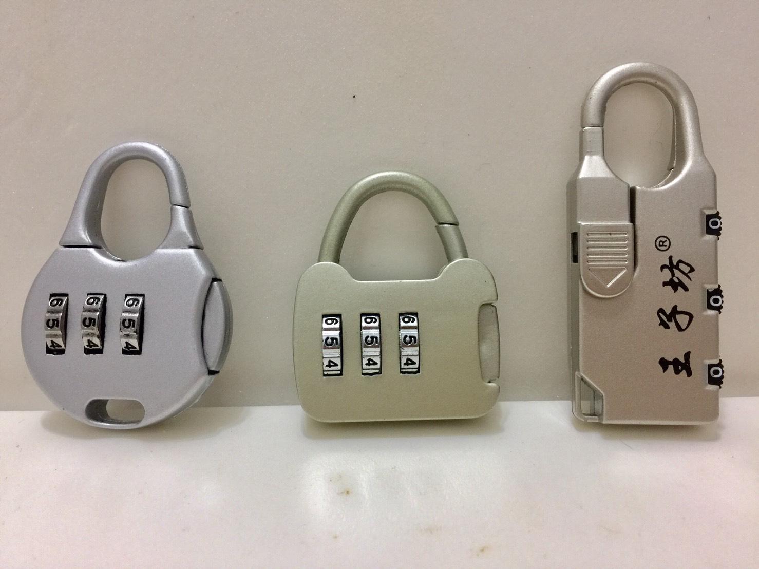 行李箱3位數字密碼鎖-3款隨機出貨