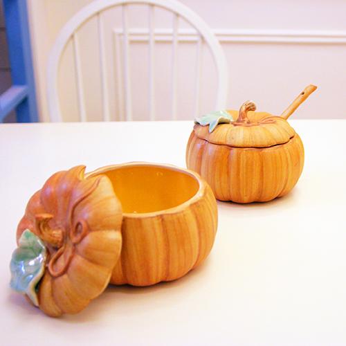 Attlee南瓜系列《南瓜大哥》造型蓋碗/創意甜品/造型盅/茶碗蒸/陶瓷飯碗/濃湯碗/禮品/陶瓷