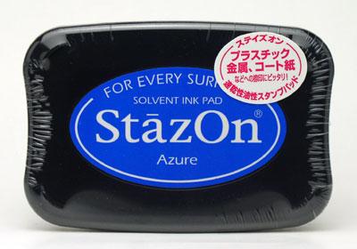 *小徑文化*日本手作雜貨 Staz On 油性速乾性印台(Azure)SZ-95
