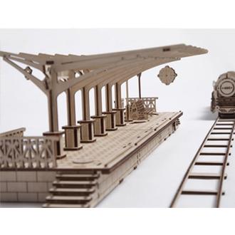 UGEARS diy 自走精品模型 / 火車組3合1 烏克蘭精緻工藝