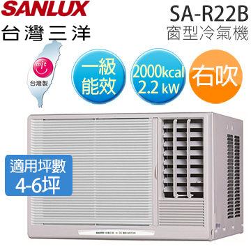 SANLUX SA-R22B 三洋 ( 適用坪數約4坪、2000kcal ) 窗型冷氣機(右吹)【公司貨】.