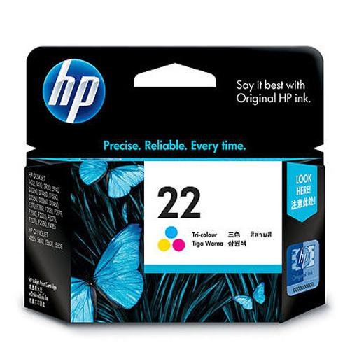 【HP 墨水匣】 C9352AA/NO.22 原廠彩色墨水匣
