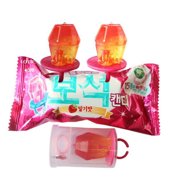 韓國*樂天BEAUTY寶石糖果-草莓口味13g