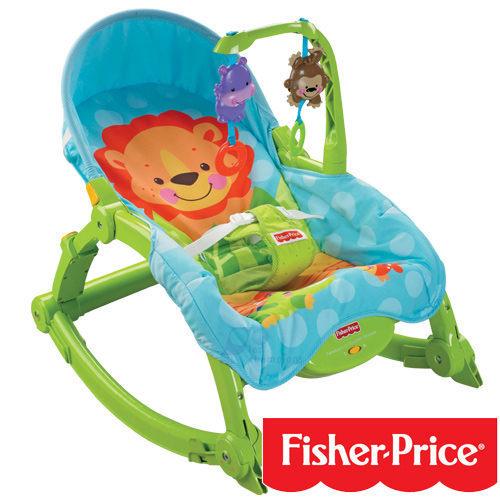 『121婦嬰用品館』費雪 可愛動物攜帶式安撫兩用躺椅