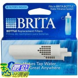 [玉山最低比價網] Brita 2入 隨身壺濾水壺濾芯 白色濾心 Bottle Replacement Filters