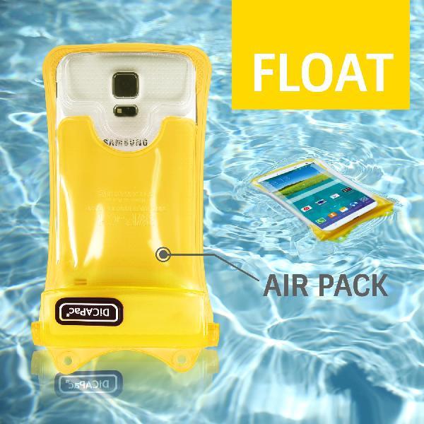 DiCAPac WP-C2 高耐磨手機防水袋(5.7吋以下)-黃色