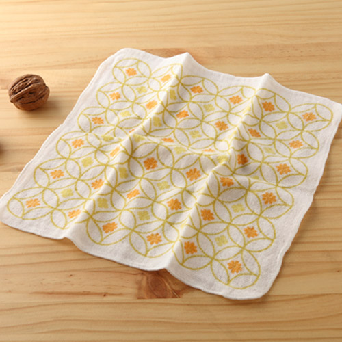 taoru 日本毛巾 和心傳_花七寶 25*25 cm (仕女手巾 紗布巾)