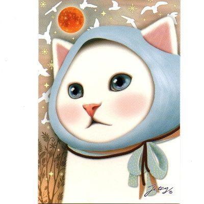 JETOY,Choo Choo 甜蜜貓第二代明信片_Bird~快樂生活網