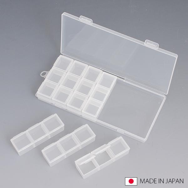 隨身藥盒日本製 DIY小物收納盒  小飾品收納盒耳環 指甲貼鑽 分類收納【SV5079】快樂生活網