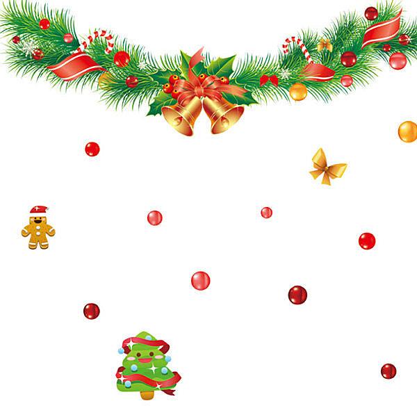 創意可重覆貼壁貼 牆貼 背景貼 壁貼樹 時尚組合壁貼 璧貼  聖誕鈴鐺  【YV3】 快樂生活網